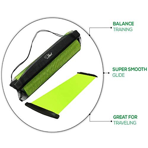 G-Dreamer Slide Board -72 Inch-with Reinforced End Stops for High Intensity and Low Impact Exercise Slideboard Skiing Practice Yoga Mat