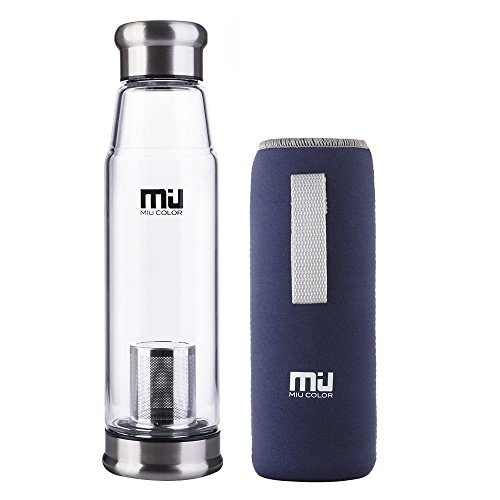MIU COLOR Glass Water Bottle product image
