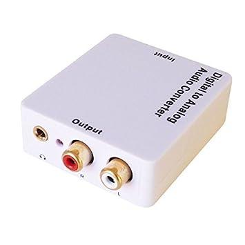 WINGONEER Audio convertidor de digital a analógico 3.5mm jack, toslink/o spdif coaxial