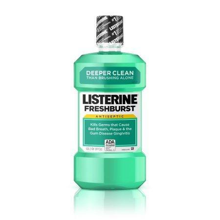 PACK OF 9 - Freshburst Listerine Antiseptic Mouthwash Kills Germs Causing Bad Breath, 500 ml