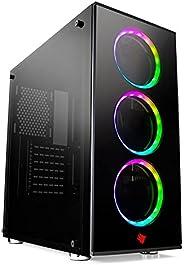 CPU PC GAMER I5, 8GB, GTX 1050 TI 4GB, SSD 240GB, GABINETE GAMER 3 FANS RGB, PROMOÇÃO BLACK FRIDAY HERTZ INFOR