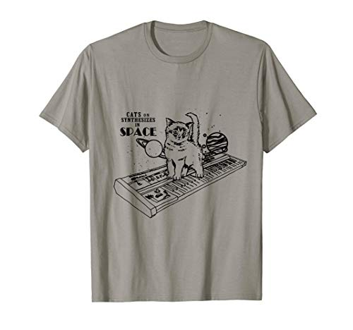 Grumpy Cat On Halloween (Cat On Synthesizer In Space T-shirt For Women Men)