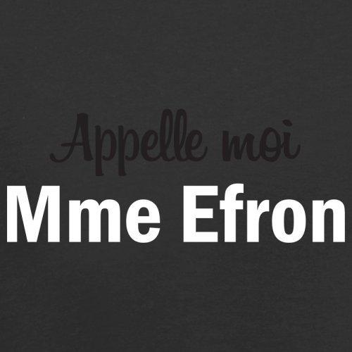 Apelle Moi Madame Efron - Femme T-Shirt - Noir - XL