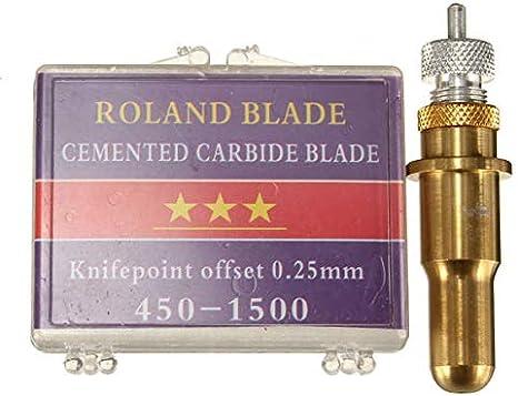 GILH - Soporte para cuchilla de corte, con 6 cuchillas de vinilo de 45 y 60 grados para Roland: Amazon.es: Bricolaje y herramientas