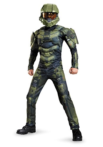 Arlene's Costume (Master Chief Classic Muscle Costume, Large (10-12))