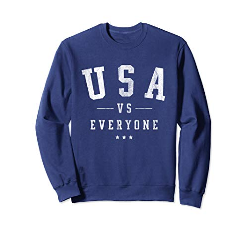 USA vs Everyone 4th of July Vintage Distressed Sweatshirt (Distressed Vintage Sweatshirt)