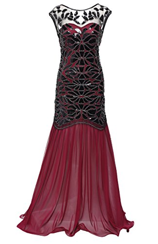 BABEYOND 1920s Flapper Dress Costume,Red,Large (Costume Woman Pretty Dress)