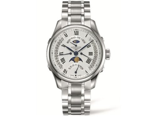 Longines Master Collection - L2.738.4.71.6 - Stainless Steel White Dial Day Date Moon Phase Automatic (Longines Moon Phase)