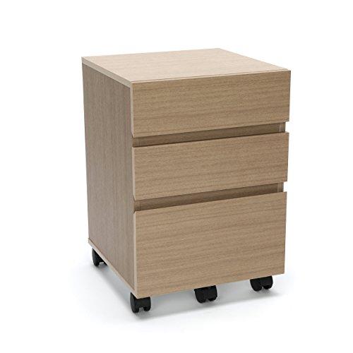 Essentials Essentials File Cabinet - 3-Drawer Wheeled Mobile Pedestal Cabinet, Harvest (ESS-1030-HVT) ()