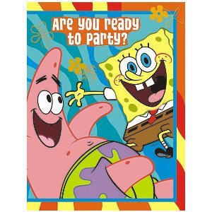 SpongeBob 'Buddies' Invitations and Thank You Notes w/ Envelopes (8ct) (Spongebob Birthday Party Invitations)