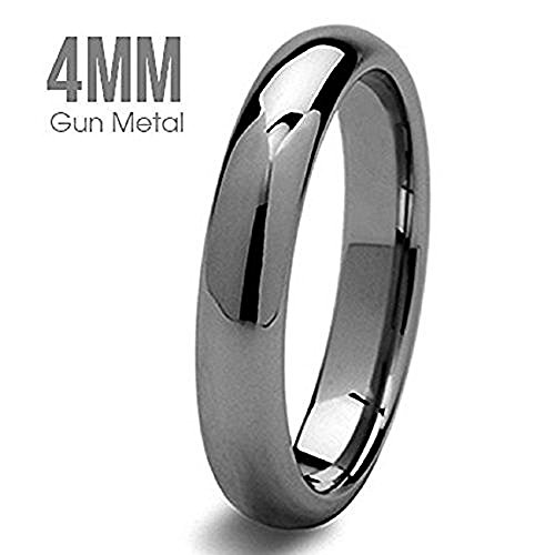 Wholesale Gorgeous Simple And Stylish Tungsten Ring Gun Metal Color Wedding Band - Gunmetal Color