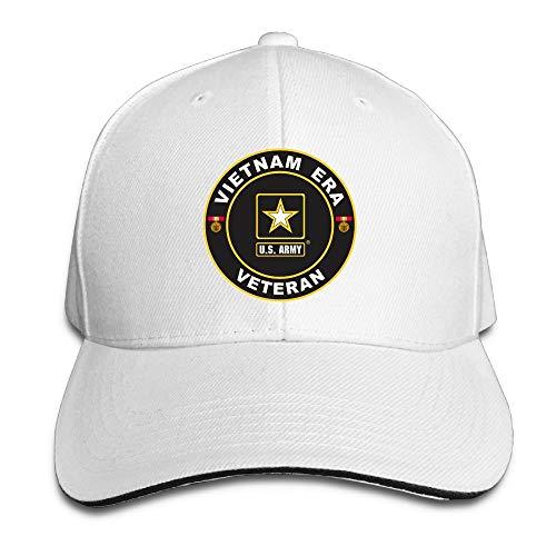 Era Vintage Hat (Jcaic Rinaa U.S. Army Vietnam Era Veteran Adjustable Baseball Caps Vintage Sandwich Hat)