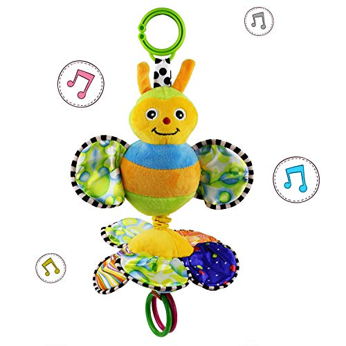 JAMSWALL Baby Stroller Hanging Toy, Cartoon Butterfly Flower