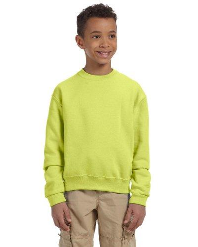 Sweatshirt Jerzees 562b (Jerzees Youth 8 Oz, 50/50 NuBlend Fleece Crew, Medium, Safety Green)