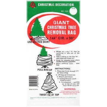 Holiday Trims Tree Removal Bag 1 Bag 144quot Circumference x 90quot Tall 075 Mil
