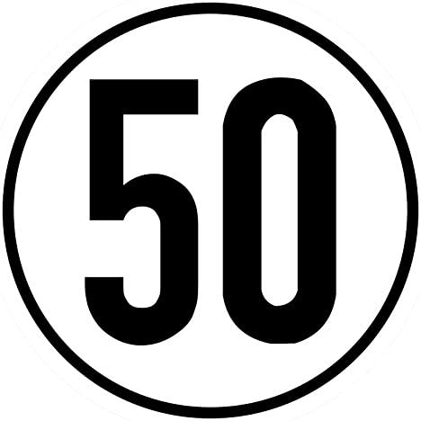 Speed Sign 50 Km H 10 Cm Film Sticker For Car Body For Tractor Truck Globe Decal Sticker Speed Wheelchair Auto