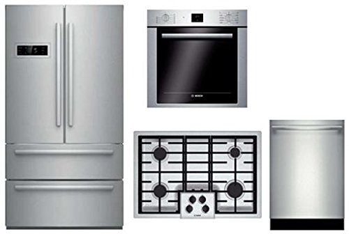 Bosch 4 Piece Stainless Steel Kitchen Package With B21CL80SNS 36