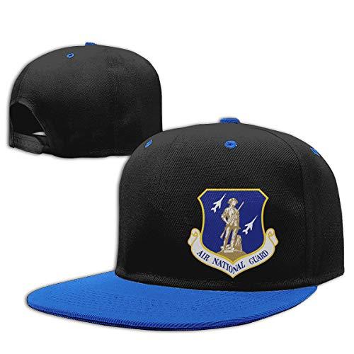 United States Air Force National Guard Men Women Hip Hop Hat Trucker Flat Hats Adjustable Snapback Hats Blue
