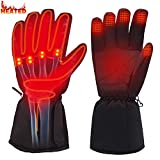Rabbitroom Winter Electric Heated Gloves Battery Power Heating Gloves Touchscreen Texting Warm Thermal