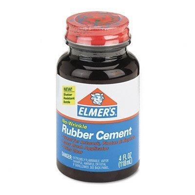 Elmer's E904 - Rubber Cement, Repositionable, 4 oz-EPIE904(Pack of 12) by Elmer's