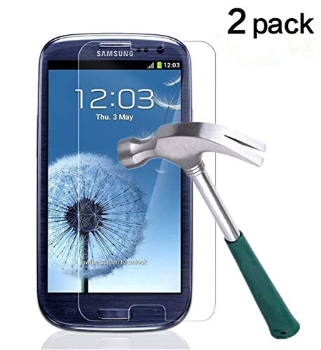 TANTEK TANTEK HD-Clear Tempered Glass Screen Protector for Samsung Galaxy S3 (2 Pack) (Samsung Mini S3 Screen Protector)