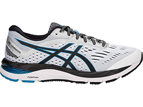 ASICS Men's Gel-Cumulus 20 Running Shoes, 9.5M, Glacier Grey/Black
