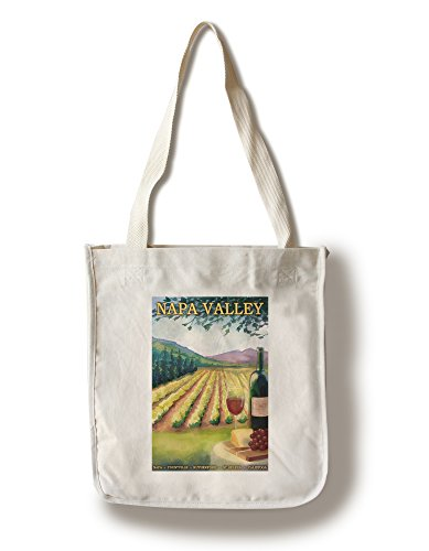 Napa Valley Wine Country (100% Cotton Tote Bag - Reusable, Gussets, Made in - Napa Shopping Valley In