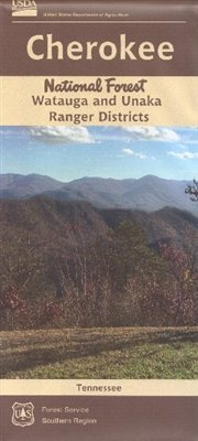 Watauga and Unaka Ranger Districts Map, Cherokee National Forest, Tennessee