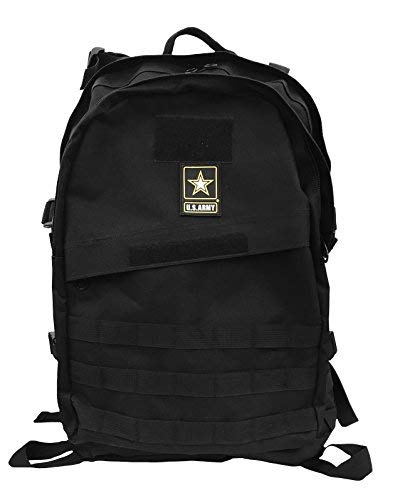 US Army Military Tactical Assault Backpack Rucksack Molle Daypack 40-Liter (Black)