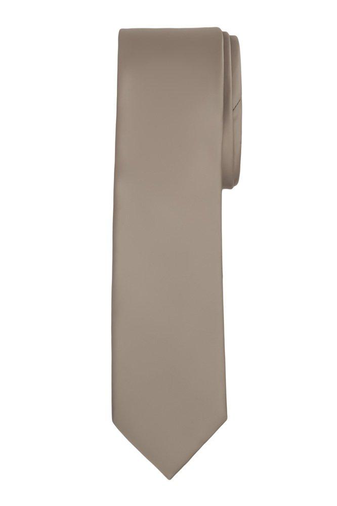 Jacob Alexander Boy's Regular Self Tie Prep Solid Color Necktie - Red FBA-JPSB024