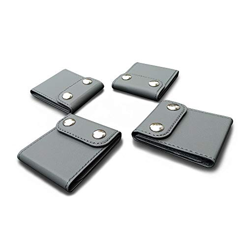 ILIVABLE Seatbelt Adjuster, Comfort Universal Auto Shoulder Neck Strap Positioner, Vehicle Car Seat Belt Covers 4 Pack (Gray)