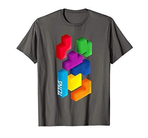 Tetris 3D Tetriminos T-Shirt, S to 3XL