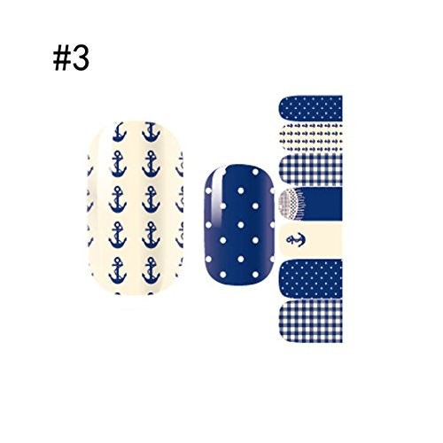 1 Sheet First Class Nail Art Stickers 3D Colorful Water Transfer Full Fashion Color Style - First Class Packet