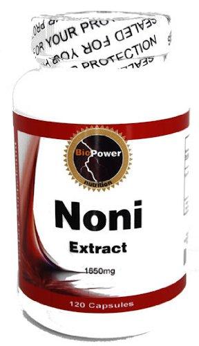 Нони экстракт # 120 капсул - Morinda Citrifolia 1650 Mg по BioPower питания