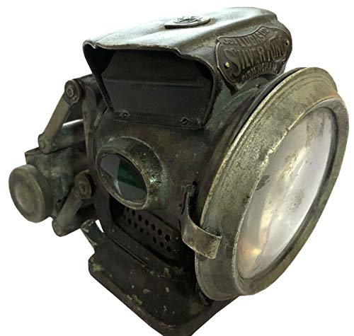 Antiques World Stunning Classic Vintage Rare Jos. Lucas Club New Holophote Birmingham Silver King Antique Bicycle Oil Lamp Lantern Light Made in England AWUSAML 073