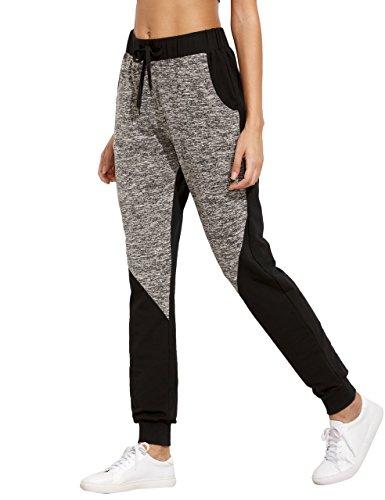 SweatyRocks-Women-Pants-Color-Block-Casual-Tie-Waist-Yoga-Jogger-Pants