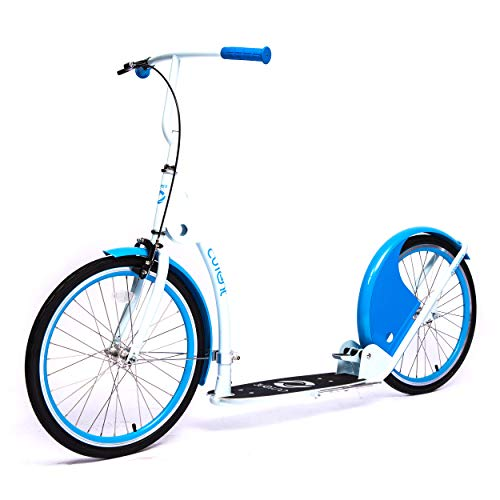 Current Coasters Foldable Kickbike Scooter for Teens and Adults with 20 Wheels