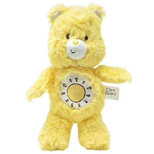 Care Bears Funshine Bear Bean Bag Rattle - Stuffed Animal Plush Toy - Yellow -