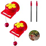 Outside Hummingbird Feeder Best Window Bird Feeder with Strong Suction Cups(2 Packs)