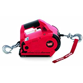 WARN 885030 PullzAll Cordless 24V DC Portable Electric Winch with Steel Cable and 1 Rechargeable Battery Pack: 1/2 Ton (1,000 lb) Lifting/Pulling Capacity