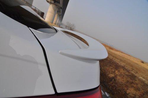 - DALLIZA Rear Trunk NEW LED Lip Spoiler PAINTED 1-pc Set For 2011 2012 2013 2014 Hyundai Elantra : Avante MD (N5S - Hyper Silver)