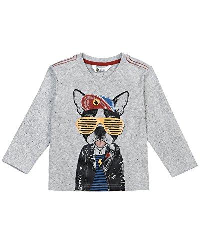 (Petit Lem Boys' Little Rock You L/s Knit T-Shirt, Heather Grey, 7)