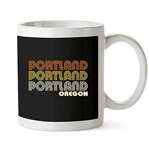 (Idakoos - Portland retro color - US Cities - Mug)