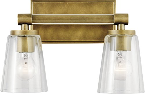 Kichler Lighting 45867NBR Two Light Bath from The Audrea Collection Brass