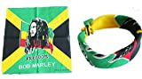 BUNFIREs 1pcs Bob Marley Bandana Head Wrap Rastafari Yardie Rasta Irie Reggae Dread One Love