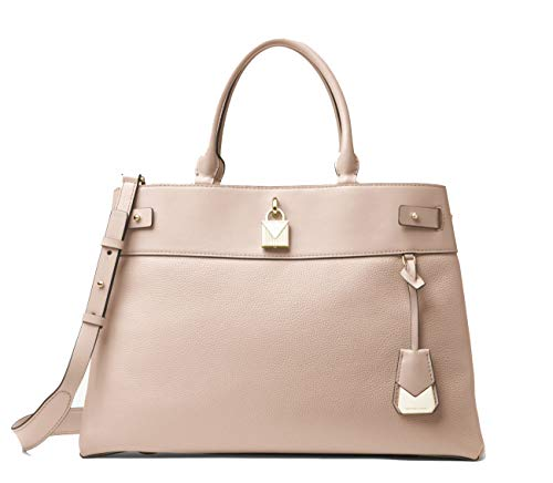 (Michael Kors Gramercy Large Pebbled Leather Satchel (Soft Pink))