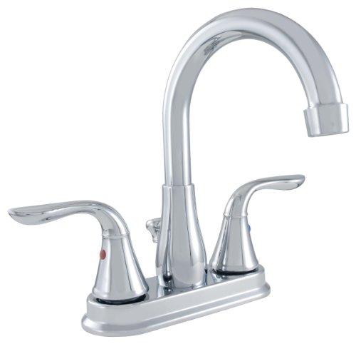 Lavatory Ldr Faucet (LDR Industries 950 44054CP Lavatory Faucet Dual Lever Handles Hi Arc Spout, Chrome Finish)