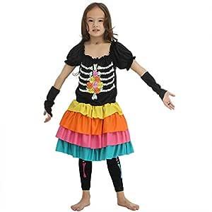 EraSpooky Día de los Muertos Disfraz de Esqueleto Disfraz de ...