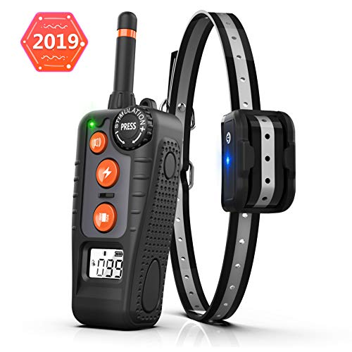 STARLIKE Dog Training Collar Rechargeable Dog Shock Collar with Remote Range,Three Training Modes, Beep/Vibration/Shock, Waterproof Training Collar, 0~99 Shock Levels Dog Training Set