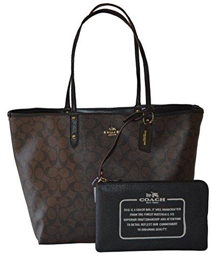 Coach Signature Reversible PVC City Large Tote Bag Handbag by Coach